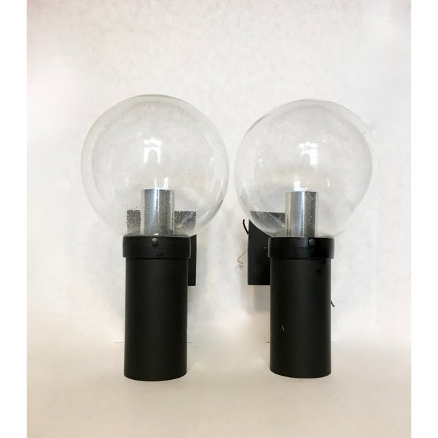 Vintage Lightolier Seed Glass Globe Double Sconces - A Pair - Image 3 of 11