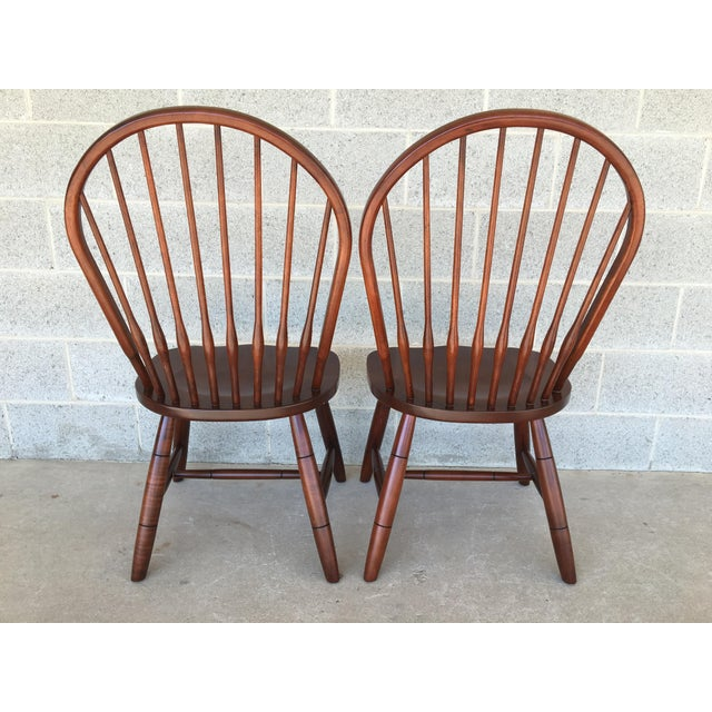 Modern Ethan Allen New Country Hoop Back Gilbert Side Chairs- A Pair For Sale In Philadelphia - Image 6 of 12