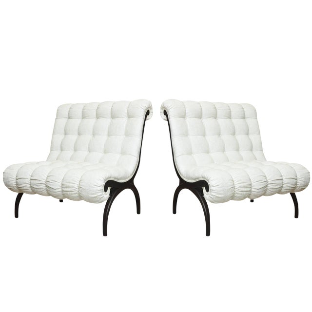 Pair of Tufted Lounge Chairs - Image 1 of 10