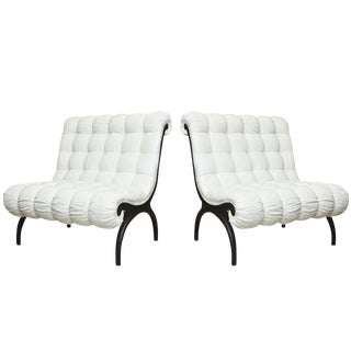 Pair of Vintage Grosfeld House Hollywood Regency Lounge Chairs For Sale