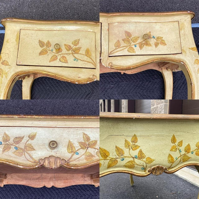 Distressed French Provincial Painted Desk For Sale - Image 12 of 13