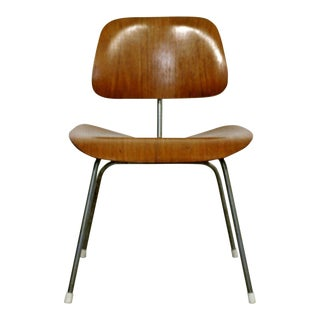 Mid Century Modern Early Original Eames Herman Miller Dcm Side Chair 1950s For Sale