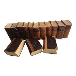 1900s Large Leather Books Retsvaesen - Set of 14 For Sale
