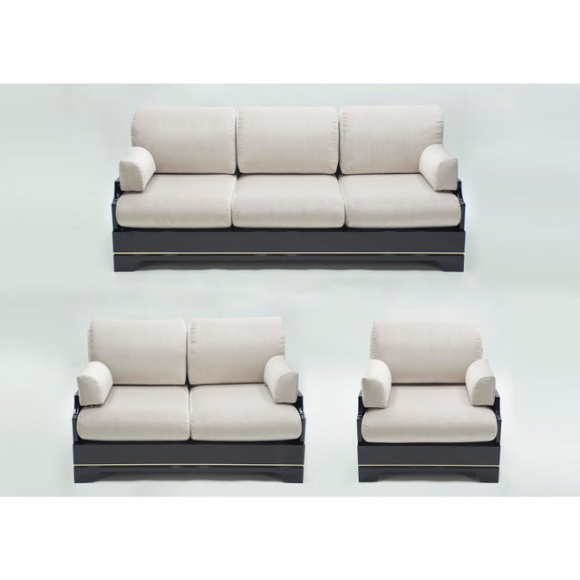Mid-Century Italian Lacquer Brass Living Room Set by Romeo Rega 1970s For Sale - Image 13 of 13