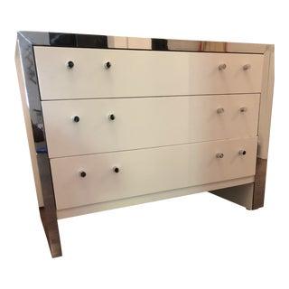 Mid-Century Modern White Dresser For Sale