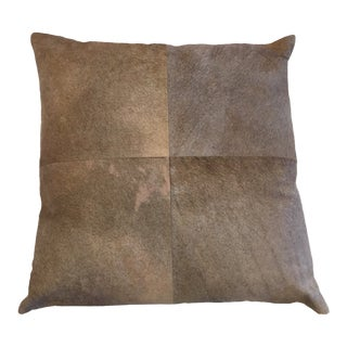 Jamie Young Company Pill24-Buhi Buff Hide 24-Inch Decorative Pillow For Sale