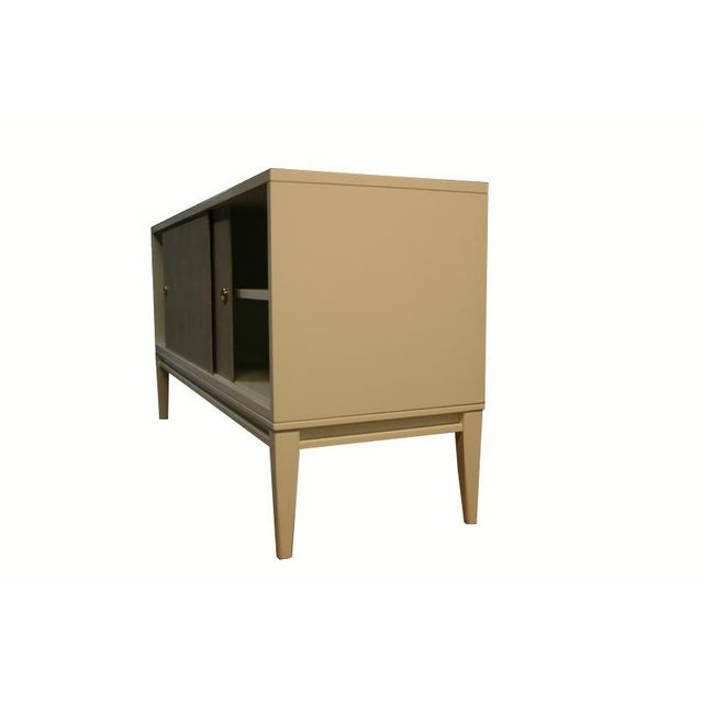 Customizable Bishop Lacquered Linen Door Console - Image 7 of 10