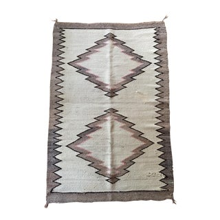 Early 20th Century Antique Navajo Inspired Wool Saddle Blanket / Rug - 2′11″ × 4′4″ For Sale