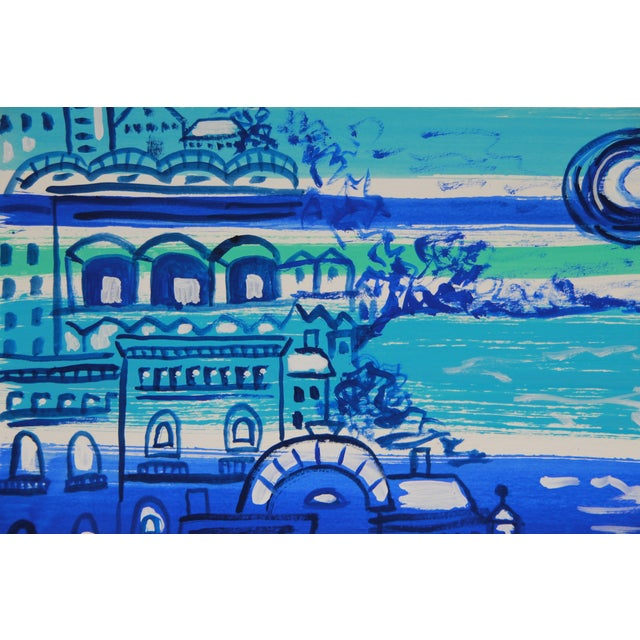 Mediterranean #4 Abstract Painting by Cleo - Image 2 of 2