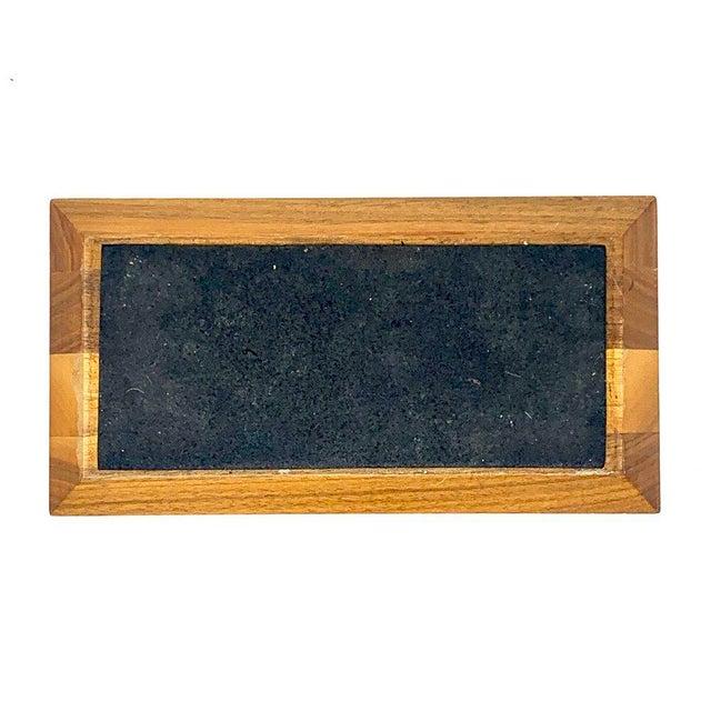 Mid-Century Modern Geometric Wooden Desk Organizer For Sale - Image 10 of 13