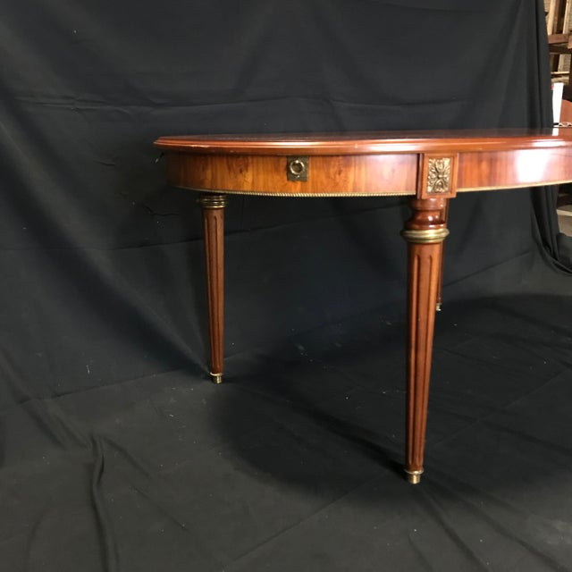 Mid 19th Century Mid 19th Century Louis XVI Style Oval Fruitwood Dining Table For Sale - Image 5 of 12