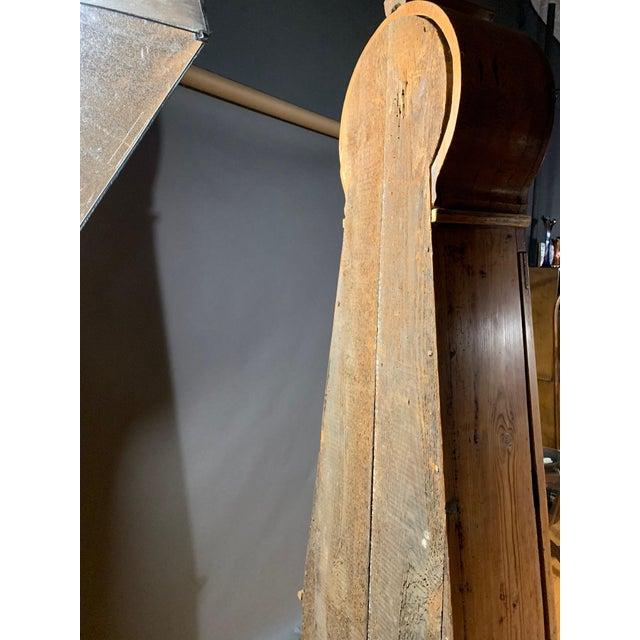 Gustavian 1810 Mora Longcase Pinewood Clock, Sweden For Sale - Image 12 of 13