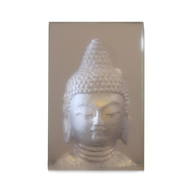 Geometric Resin Sculpture, Buddha Wall Relief - Image 2 of 4
