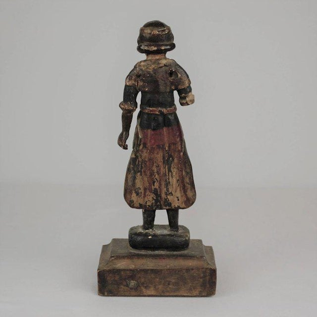 19th Century Carved Wood Youth For Sale - Image 11 of 13