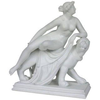 """Minton Parian-Ware """"Ariadne on a Panther"""" Figurine"""