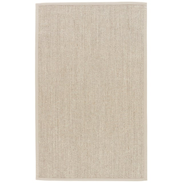 Contemporary Jaipur Living Naples Natural Solid Beige & Ivory Area Rug - 5' X 8' For Sale In Atlanta - Image 6 of 6