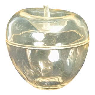 20th Century Hollywood Regency Lucite Apple Dish For Sale