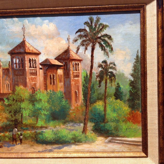 Plaza De America, Seville Spain - Oil Painting For Sale In Chicago - Image 6 of 11