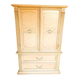 1960s Mid Century French Provincial Armoire For Sale