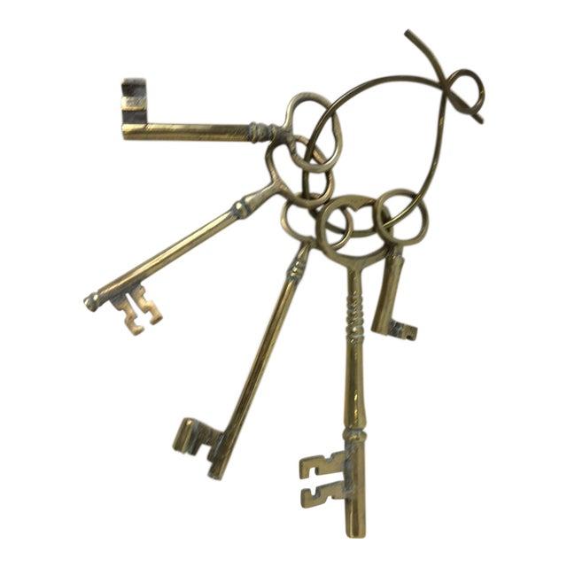 English brass keys set of chairish