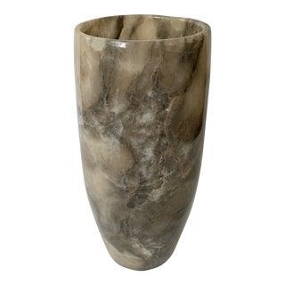 Vintage Tall Marble Vase For Sale