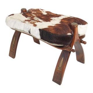 Vintage Moroccan Camel Saddle Stool For Sale