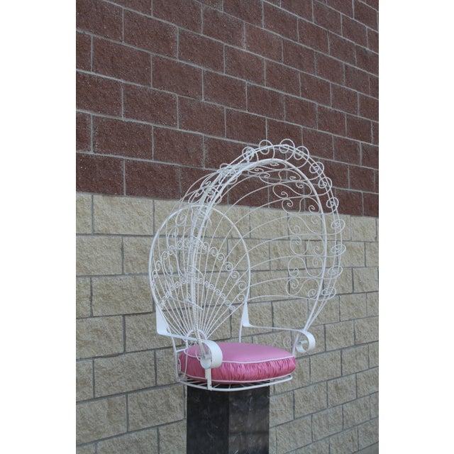 Vintage Metal Hanging Peacock Chair - Image 5 of 10