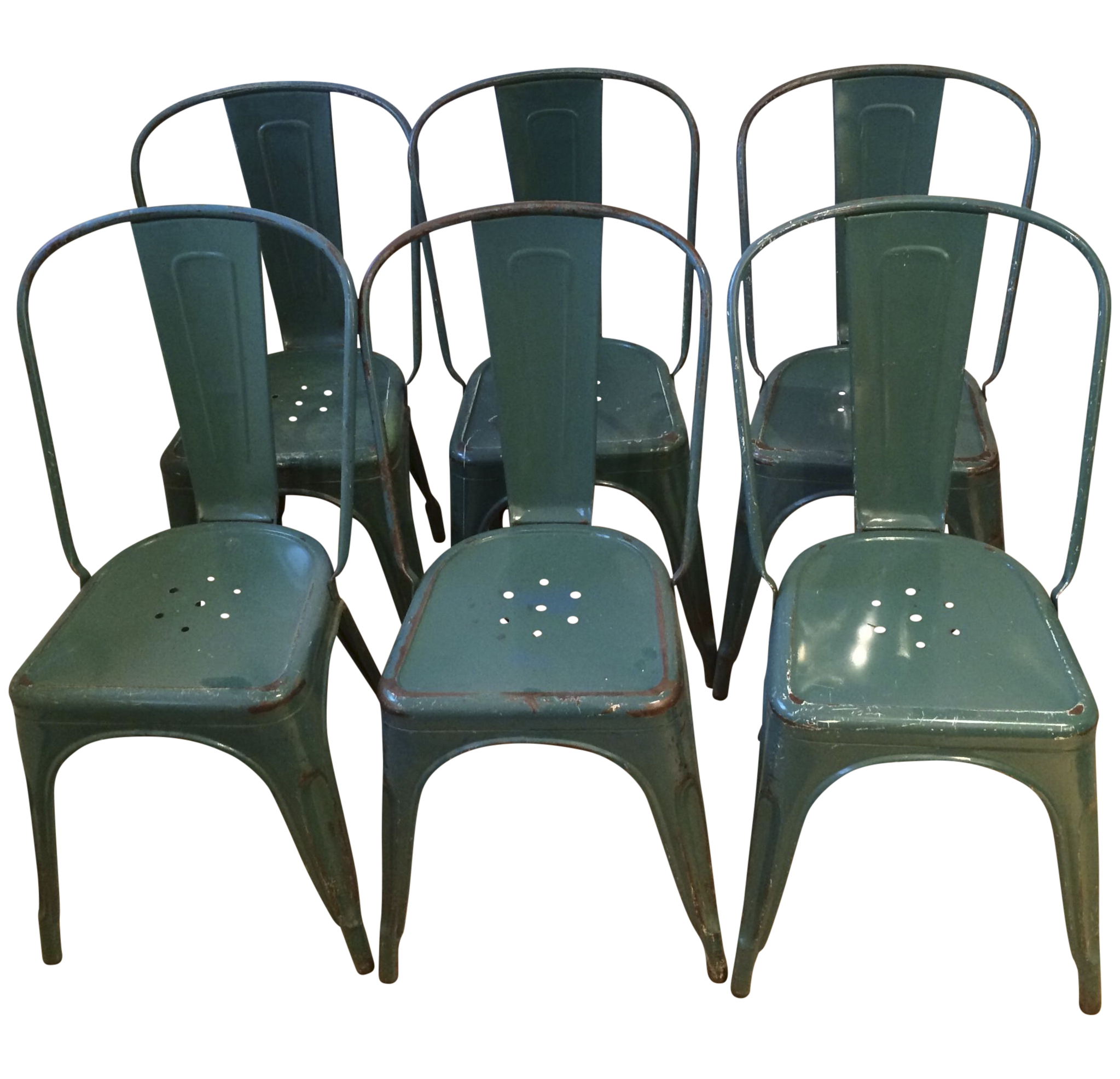Vintage Tolix French Cafe Chairs   6