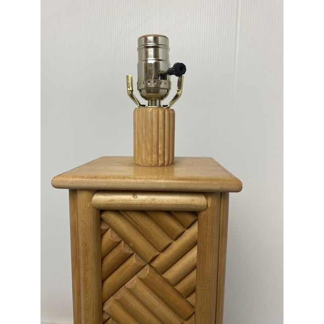 1970s Vintage 1970's Bamboo Table Lamps - a Pair For Sale - Image 5 of 7