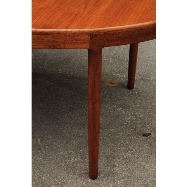 Teak Magnificent Teak Extension Dining Table by Harry Ostergaard, Circa 1963 For Sale - Image 7 of 11