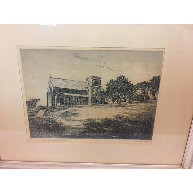 A beautiful fine vintage etching of The Chapel of Our Lady/ Canterbury School signed by noted artist Philip Kappel. Very...