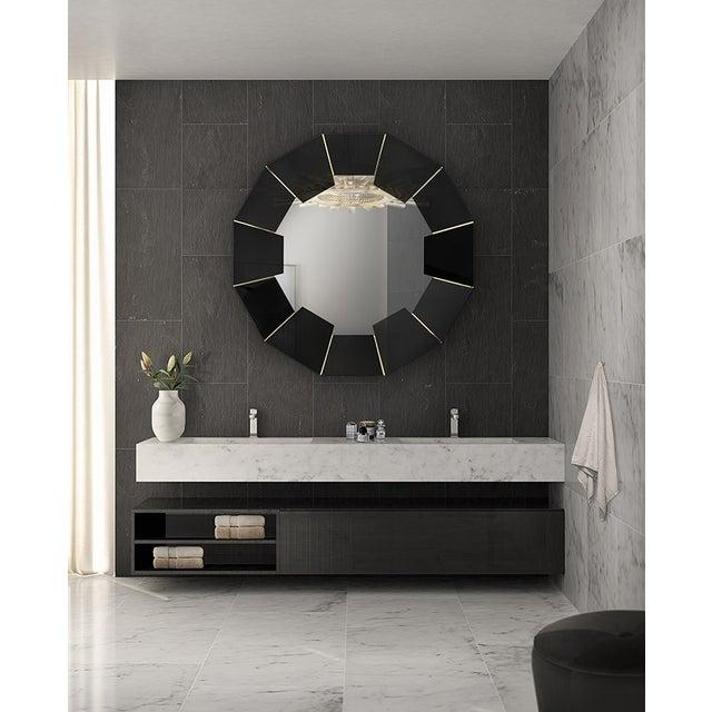 Darian Black Mirror From Covet Paris For Sale - Image 9 of 9