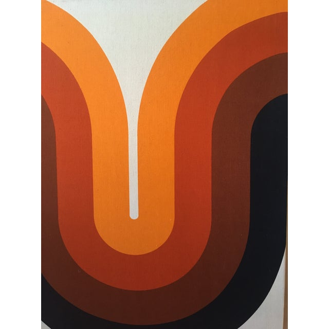 Verner Panton Mid-Century Stretched Canvas Screen-Print by Verner Panton For Sale - Image 4 of 8