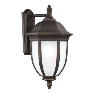Araminta Extra Large One Light Outdoor Wall Lantern, Bronze For Sale