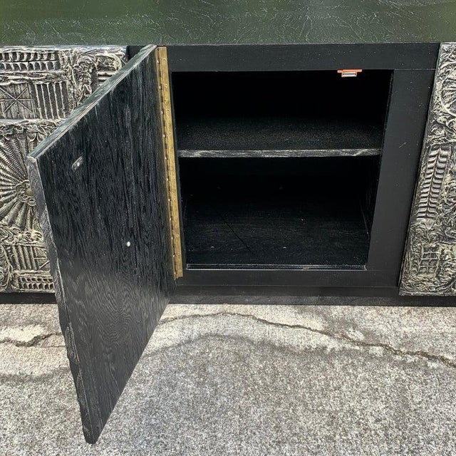 """Brutalist Adrian Pearsall for Craft Associates """"Sculpted Bronze"""" Brutalist Credenza For Sale - Image 3 of 12"""