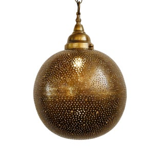 Brass Globe Lantern Small For Sale