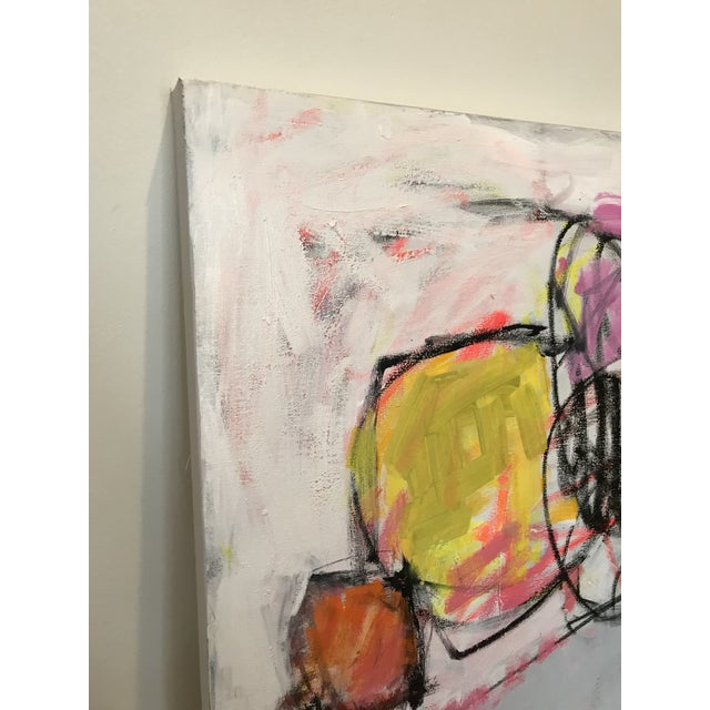 2010s Scrappy Flowers No. 2 Contemporary Painting For Sale - Image 5 of 6