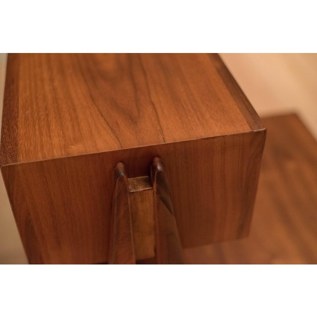 Mid Century Walnut Floating Nightstands by Drexel Declaration For Sale - Image 11 of 13