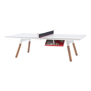 RS Barcelona You and Me Indoor/Outdoor Ping Pong Table, White For Sale