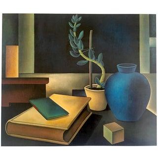 "Eberhard Viegener Vintage 1998 German Modernist Lithograph Calendar Print "" Still Life With Cactus "" 1927 For Sale"