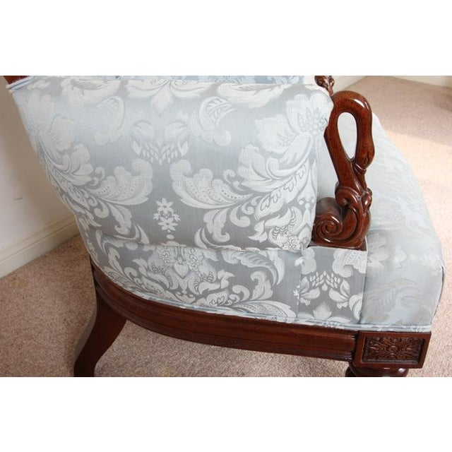 Vintage Rococo Style Silk Upholstered Armchair - Image 4 of 8