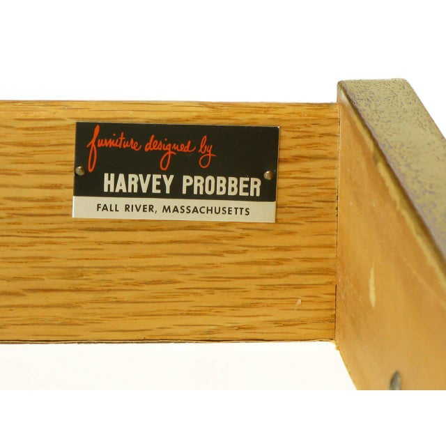 Harvey Probber Bleached Ribbon Mahogany Long Cabinet For Sale - Image 9 of 9