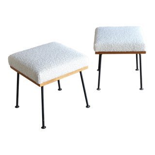 Vintage Mid Century Raymond Loewy for Mengel Furniture Company Stools- a Pair For Sale