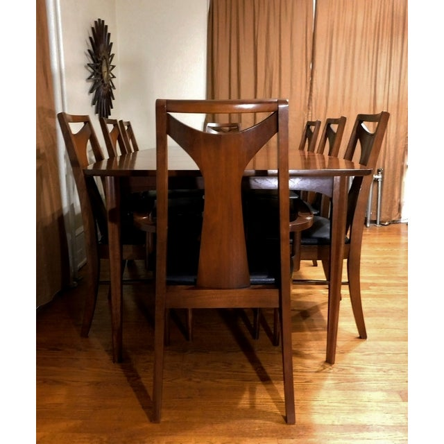 Mid-Century Modern Kent Coffey Perspecta Dining Set - Image 5 of 7