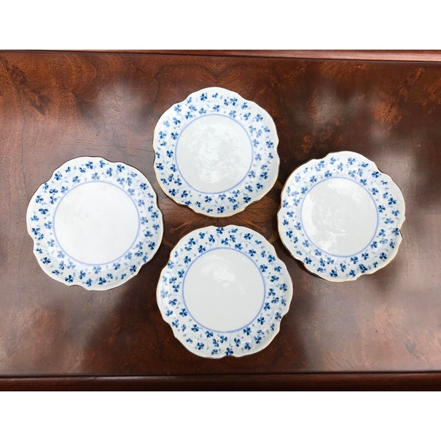 Blue Godinger and Company Dessert Plates in the Blue Belle Pattern - Set of 4 For Sale - Image 8 of 8