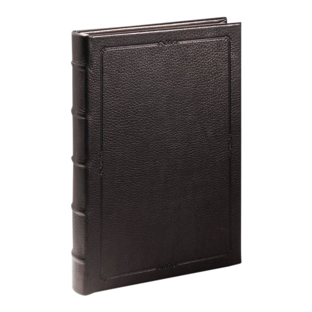 Small Hardcover Journal, Calfskin in Black For Sale