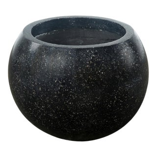 Black Terrazzo Round Pot For Sale