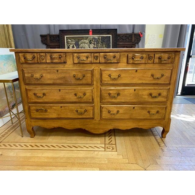 Heritage Drexel Heritage Nine Drawer Chestnut Finish Dresser For Sale - Image 11 of 11
