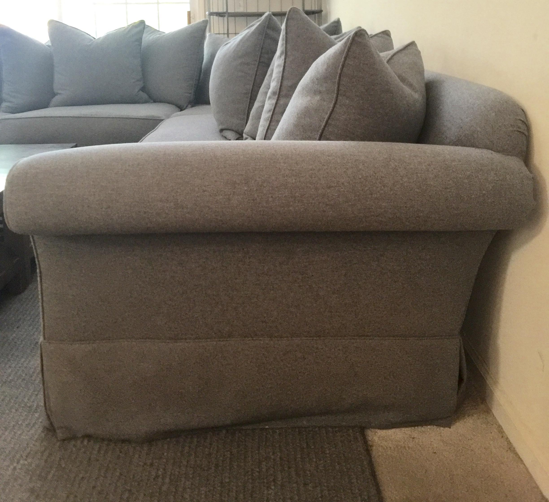 Ralph Lauren Gray Wool Flannel Sofa   Image 4 Of 5