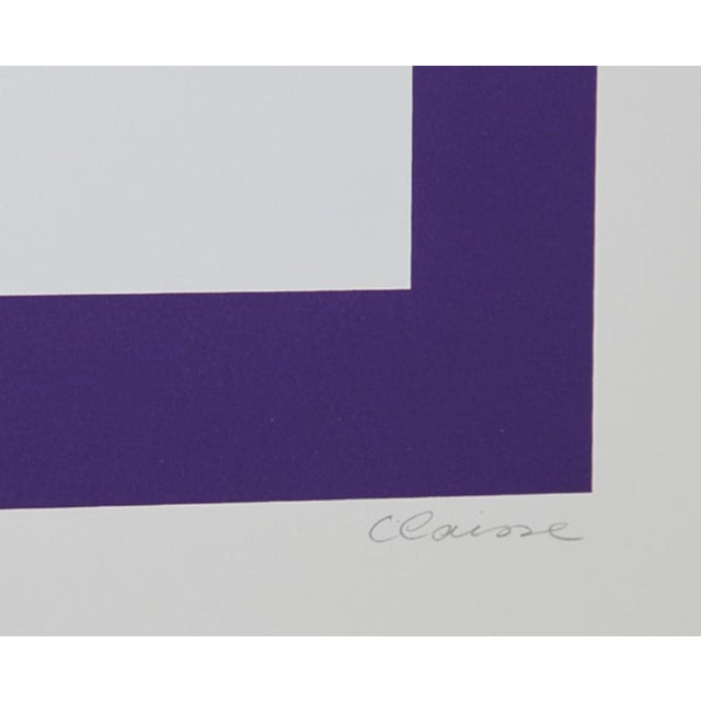 Artist: Genevieve Claisse, French (1935 - ) Title: Untitled II Year: circa 1968 Medium: Serigraph, signed and numbered in...